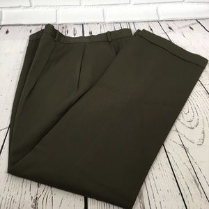 Brown Wool Brooks Brothers 346 High Rise Pants